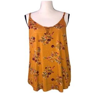 NWT Pink Republic Gold Train Floral Tank Top